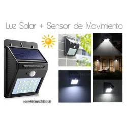 LED SOLAR + SENSOR  de MOVIMIENTO