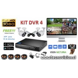 DVR 4 CÁMARAS 1080P
