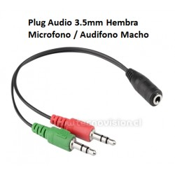 Adaptador Plug 3.5 a Micrófono/Audífono