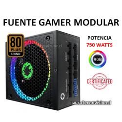 FUENTE GAMER MODULAR 750W CERTIFICADAS