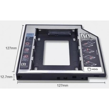 CADDY HDD 12.7mm para NOTEBOOK